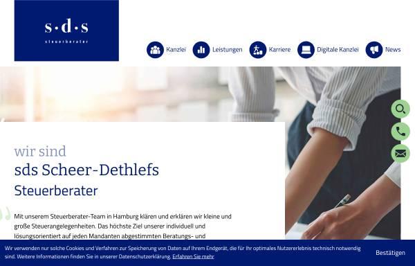 Vorschau von www.steuerberater-dethlefs-hamburg.de, Steuerberater Joachim Dethlefs