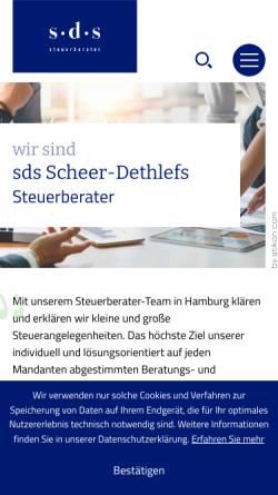 Vorschau der mobilen Webseite www.steuerberater-dethlefs-hamburg.de, Steuerberater Joachim Dethlefs