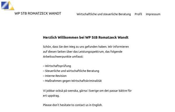 Vorschau von www.romatzeck-wandt.de, Eva Romatzeck Wandt - Steuerberaterin