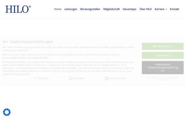 Vorschau von www.hilo.de, Lohnsteuerhilfeverein HILO e.V. Direktion für Hamburg und Schleswig-Holstein