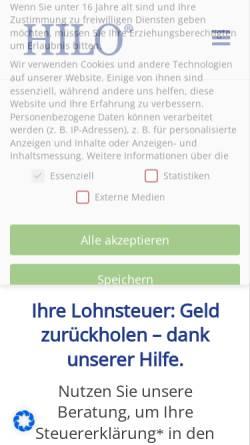 Vorschau der mobilen Webseite www.hilo.de, Lohnsteuerhilfeverein HILO e.V. Direktion für Hamburg und Schleswig-Holstein