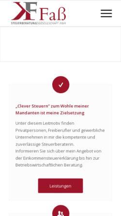 Vorschau der mobilen Webseite stb-fass.de, Kerstin Faß Steuerberatung