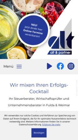 Vorschau der mobilen Webseite www.alt-partner.de, Alt und Partner - Wirtschaftsprüfer, Steuerberater