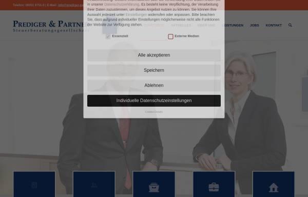 Vorschau von www.prediger-partner.de, Prediger und Partner Steuerberater