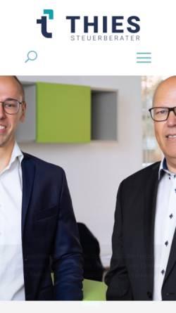 Vorschau der mobilen Webseite www.thies-steuerberater.de, Steuerberater Manfred Treskatis und Carsten Thies