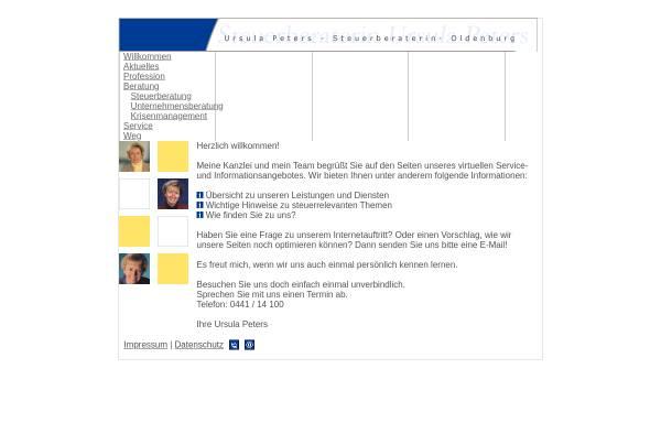 Vorschau von www.ursula-peters.de, Steuerberatung Ursula Peters