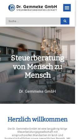 Vorschau der mobilen Webseite www.gemmeke-gmbh.de, Dr. Gemmeke GmbH