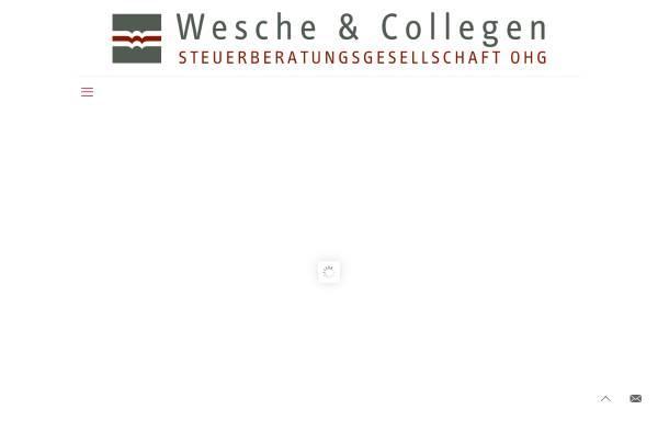 Vorschau von www.wmwsteuer.de, Willenbrock, Wesche & Collegen Steuerberatungsgesellschaft OHG