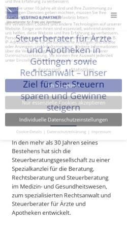 Vorschau der mobilen Webseite www.vesting-stb.de, Vesting & Partner