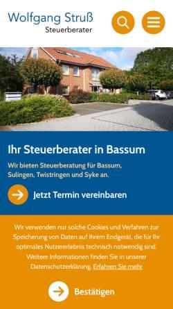 Vorschau der mobilen Webseite www.wolfgangstruss.de, Dipl.-Ing Wolfgang Struss Steuerberater