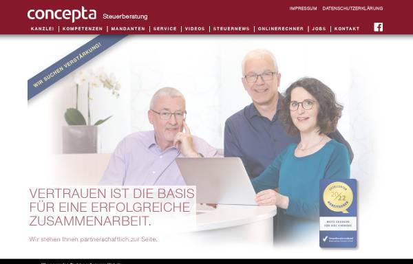 Vorschau von www.concepta.eu, Wedekind, Henniges, Radisch, Steuerberater Partnerschaft mbB