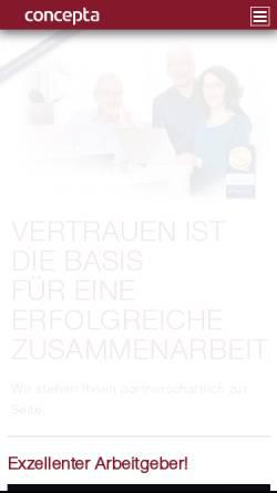 Vorschau der mobilen Webseite www.concepta.eu, Wedekind, Henniges, Radisch, Steuerberater Partnerschaft mbB