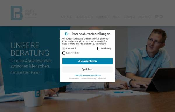 Vorschau von www.boekeundpartner.de, Böke & Partner Steuerberatungsgesellschaft PartmbB