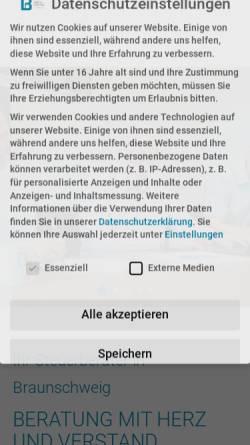 Vorschau der mobilen Webseite www.boekeundpartner.de, Böke & Partner Steuerberatungsgesellschaft PartmbB