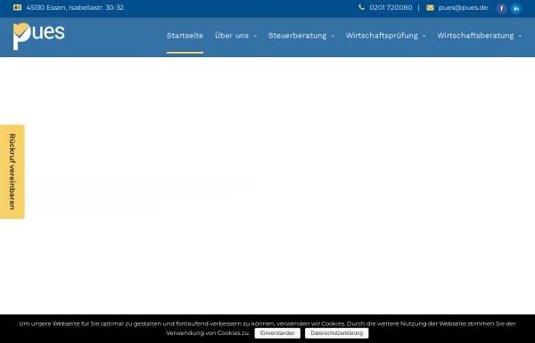 Vorschau von pues.de, Steuerberatungsgesellschaft Pues GmbH