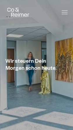 Vorschau der mobilen Webseite www.joergreimer.de, Steuerberater Jörg Reimer