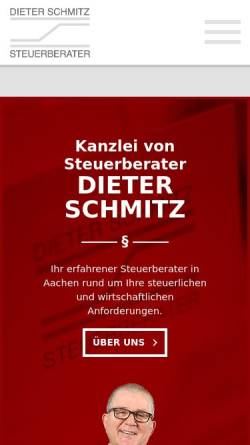 Vorschau der mobilen Webseite www.stbschmitz.de, Dieter Schmitz Steuerberater