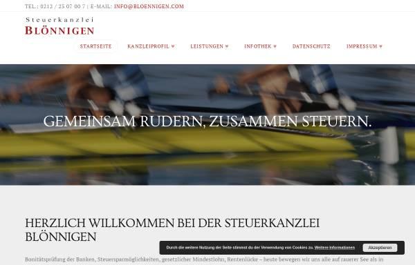 Vorschau von www.bloennigen.com, Steuerberater Jürgen Blönnigen