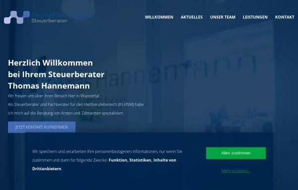 Vorschau von www.steuerberater-hannemann.de, Steuerberater Thomas Hannemann