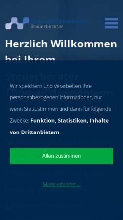 Vorschau der mobilen Webseite www.steuerberater-hannemann.de, Steuerberater Thomas Hannemann