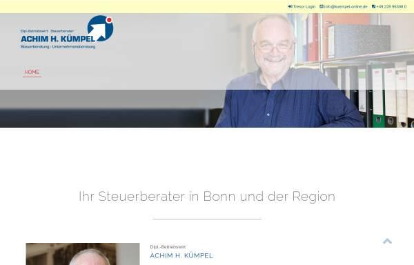 Vorschau von www.kuempel-online.de, Steuer- und Wirtschaftsberatung Kümpel