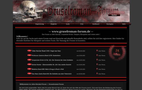 Vorschau von www.gruselroman-forum.de, Gruselroman-Forum
