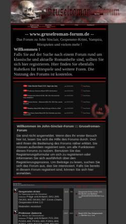 Vorschau der mobilen Webseite www.gruselroman-forum.de, Gruselroman-Forum