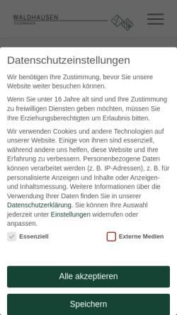 Vorschau der mobilen Webseite www.stb-waldhausen.de, Horst Waldhausen Steuerberater