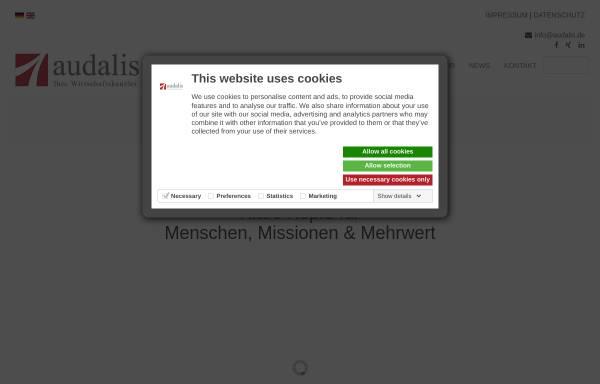 Vorschau von www.audalis.de, Audalis Kohler, Punge und Partner