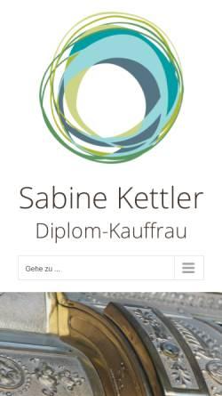 Vorschau der mobilen Webseite sabine-kettler.de, Dipl.-Kauffrau Sabine Kettler - Steuerberaterin