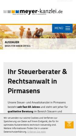 Vorschau der mobilen Webseite www.meyer-kanzlei.de, Meyer und Partner GbR