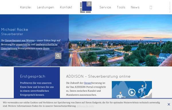 Vorschau von www.racke-steuerberater.de, Dipl.-Kfm. Gerhard Racke