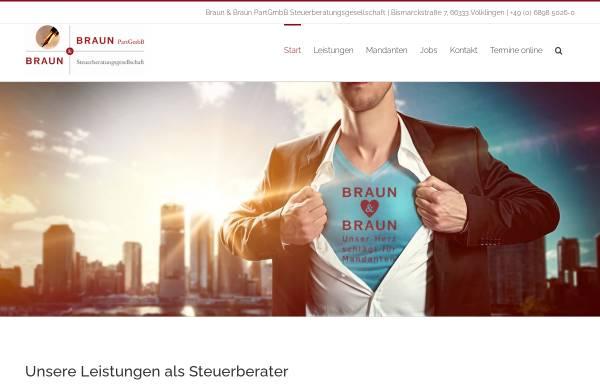 Vorschau von www.steuerberater-braun.de, Braun & Braun PartGmbB