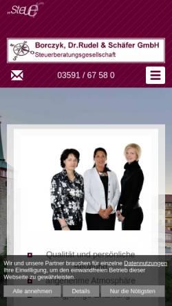 Vorschau der mobilen Webseite www.steuerberatung-bautzen.de, Borczyk, Dr. Rudel & Schäfer Steuerberatungsgesellschaft GmbH