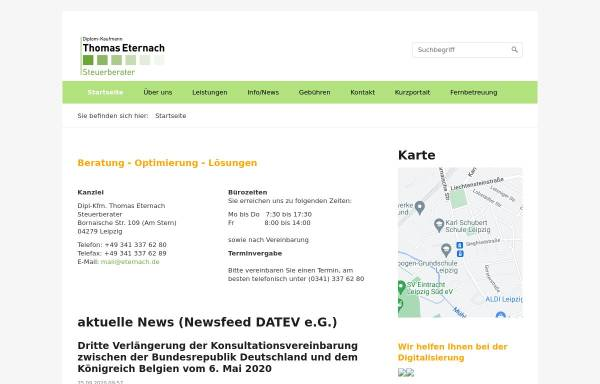 Vorschau von www.eternach.de, Steuerkanzlei Elke Eternach