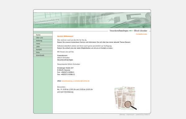 Vorschau von www.steuerkanzlei-ullrich-schreiber.de, Steuerkanzlei Ulrich Schreiber