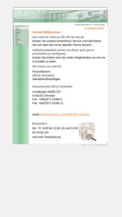 Vorschau der mobilen Webseite www.steuerkanzlei-ullrich-schreiber.de, Steuerkanzlei Ulrich Schreiber