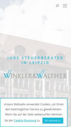 Vorschau der mobilen Webseite www.winkler-walther.de, Walendy & Walther Steuerberater