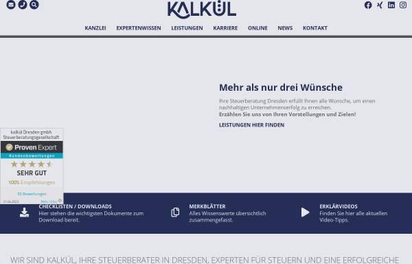 Vorschau von www.kalkuel-dresden.de, Kalkül Dresden GmbH