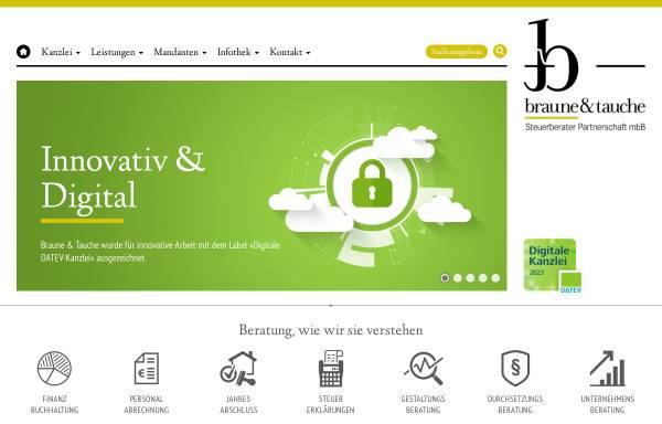 Vorschau von www.braune-tauche.de, Braune und Tauche Steuerberater Partnerschaft mbB