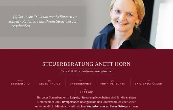 Vorschau von www.steuerberater-horn-leipzig.de, Anett Horn - Steuerberaterin