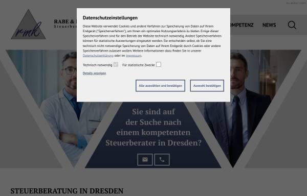 Vorschau von www.rmk-dresden.de, Rabe und Kollegen GmbH - Steuerberatungsgesellschaft
