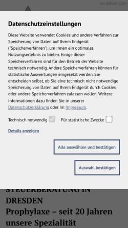 Vorschau der mobilen Webseite www.rmk-dresden.de, Rabe und Kollegen GmbH - Steuerberatungsgesellschaft