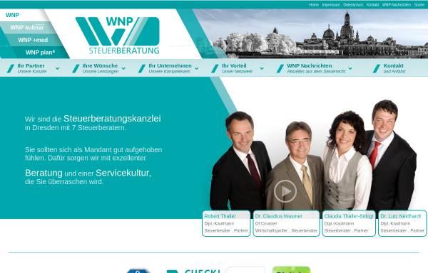 Vorschau von www.wnp-dresden.de, WNP Dr. Wasmer Thaller und Partner Steuerberatungsgesellschaft