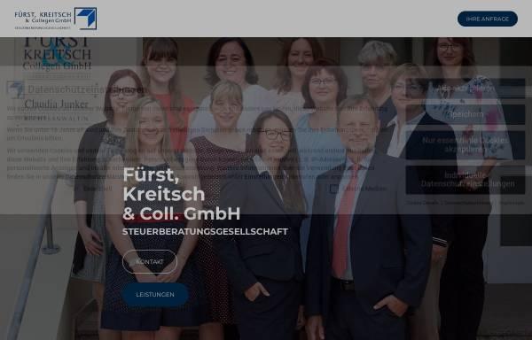 Vorschau von www.fuerst-und-kreitsch.de, Fürst, Kreitsch und Collegen Steuerberatungsgesellschaft mbH