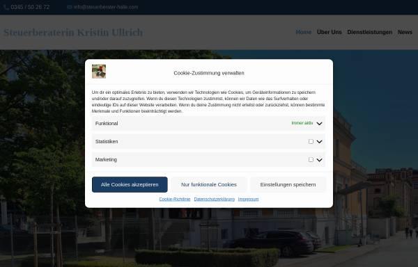 Vorschau von www.steuerberater-halle.com, Steuerberaterin Dipl.- Betriebswirtin (BA) Kristin Ullrich