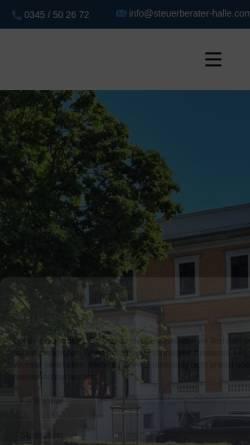 Vorschau der mobilen Webseite www.steuerberater-halle.com, Steuerberaterin Dipl.- Betriebswirtin (BA) Kristin Ullrich
