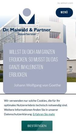 Vorschau der mobilen Webseite www.dr-maiwald-und-barthel.de, Dr. Maiwald & Barthel - Steuerberater