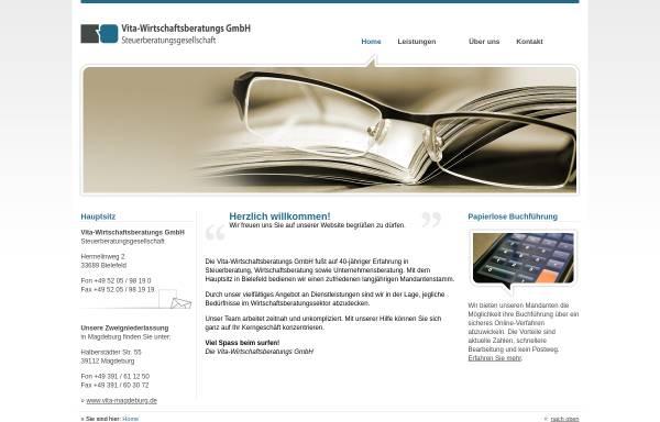 Vorschau von www.vita-magdeburg.de, Vita-Wirtschaftsberatungs GmbH