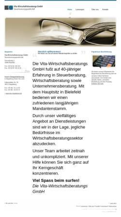 Vorschau der mobilen Webseite www.vita-magdeburg.de, Vita-Wirtschaftsberatungs GmbH